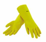 Rękawiczki gumowe z wyściółką - S
