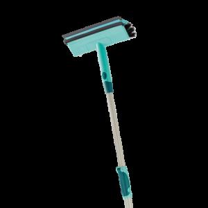 Ściągaczka do szyb ze szczotką i drążkiem teleskopowym